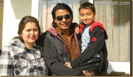 Biraj Bhatta and his wife